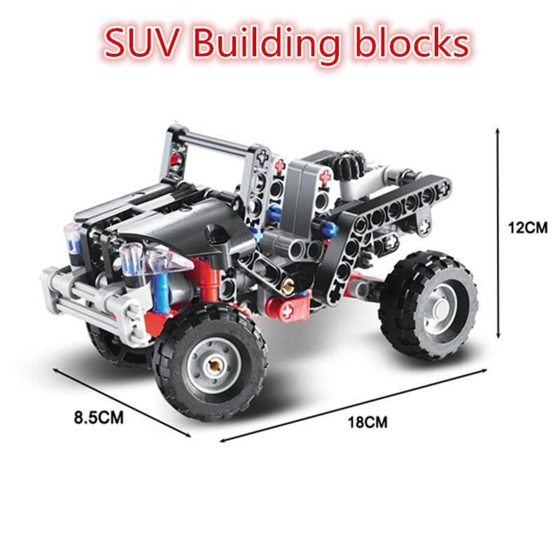 Technic 3342 Balok Susun Transportasi Jeep Vanguard SUV Model Mobil Balap Pendidikan Menyusun DIY Mainan Anak