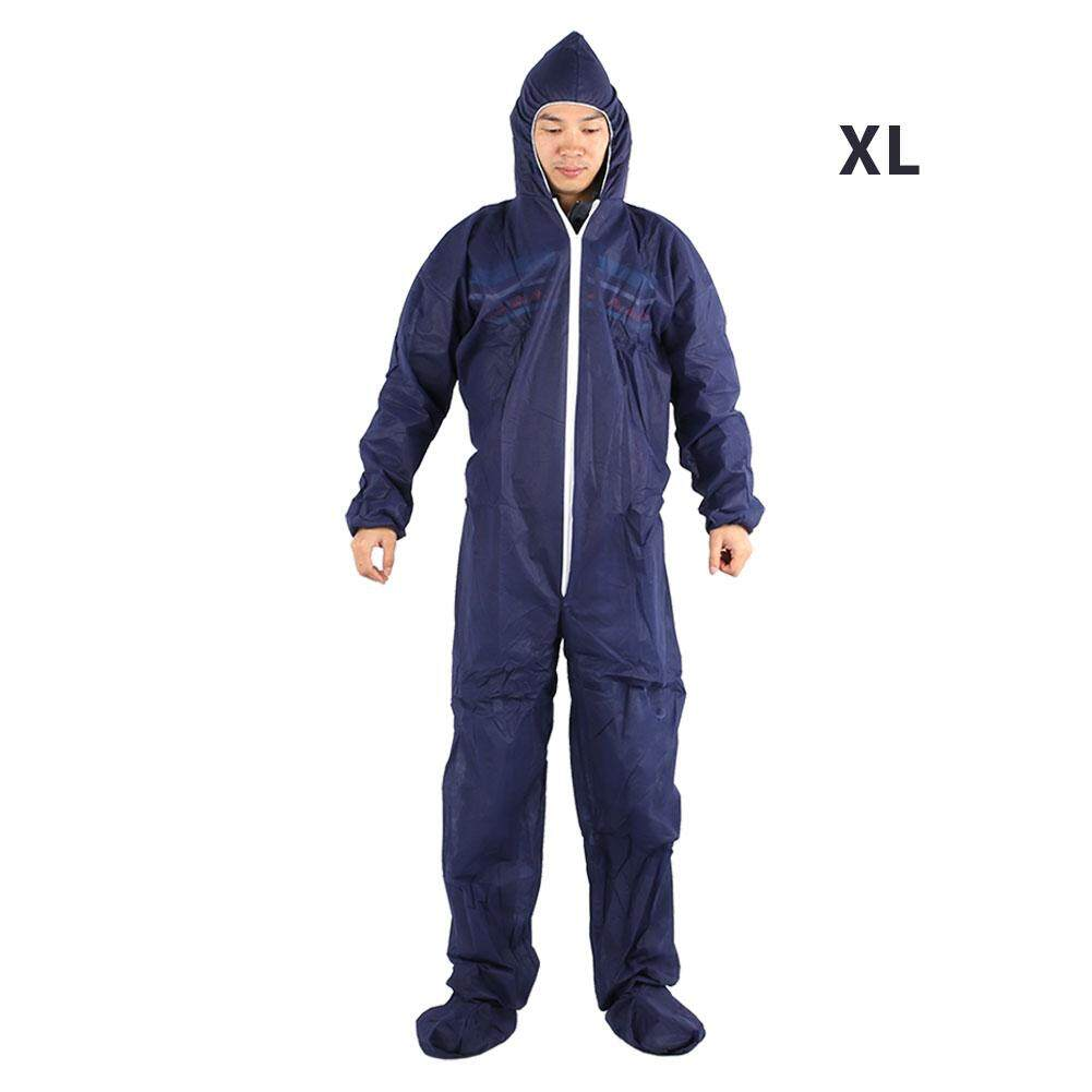 Disposable Compact Dark Blue Non-Woven Handling Protective Clothing Exposure Suit Work Clothes