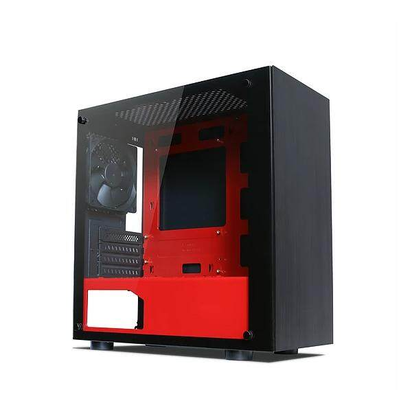 Tecware Nexus M Tempered Glass Gaming Casing With 3 Units 12CM Fan (Red) Malaysia