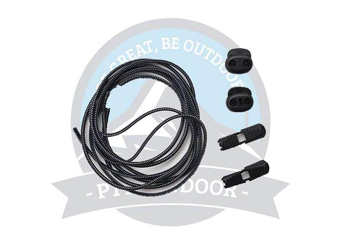 [READY STOCK] Lock laces Elastic Shoelace and Fastening System for Sports Shoes Running Shoes - Black
