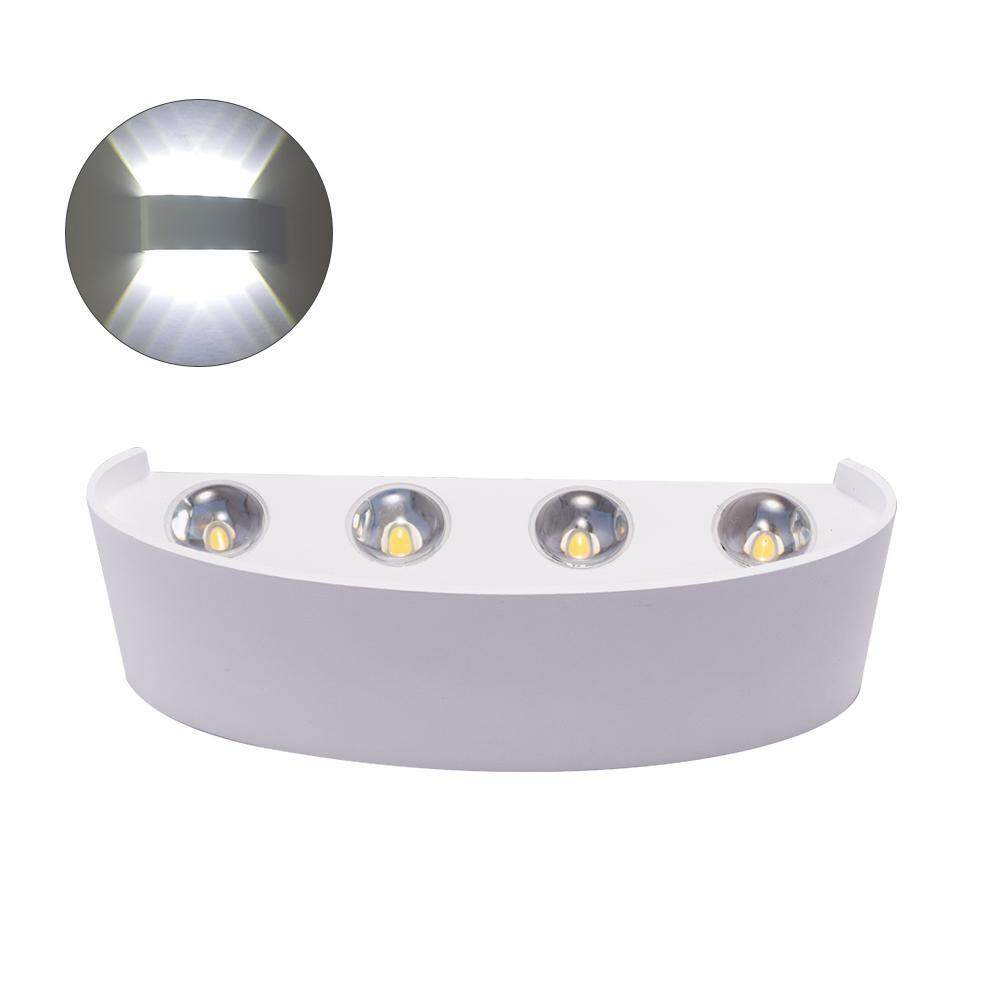 leegoal Wall Sconce Lamp, 8W Led Outdoor Wall Lamp IP68 Surface Mounted Outdoor Led Cube Lamp Waterproof Up & Down