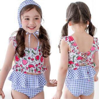 Pencari Harga Dua Buah Bayi Anak Lengan Pendek Perempuan Pakaian Renang  Tabir Surya Atasan Baju Pakaian 592b28dce8