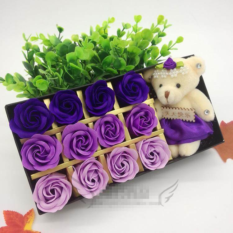 12Pcs Romantic Rose Fragance Soap Flower for Valentine 's Day /Wedding /birthday Gifts
