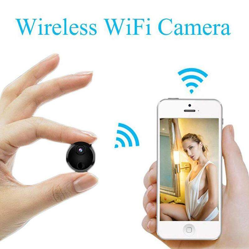 Mini Wifi Ip Camera Hd 1080p Infrared Night Vision Micro Network Camcorder 150° Wide-Angle Remote Monitoring Alarm Prompt Camera By Dongxin Mall.