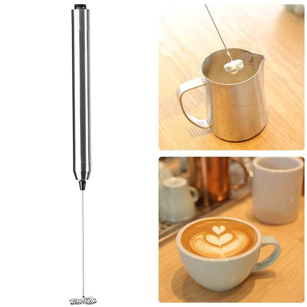 Yuchen High Quality Milk Frother Handheld Double Spring Whisk Head Powerful Electric Milk Frother With Additional Single Spring Whisk Head By Yuchen.