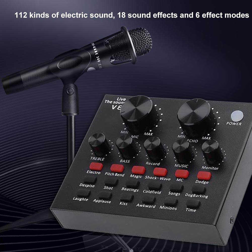 V8 Audio Usb Headset Microphone Webcast Live Sound Card For Phone Computer By Questionno.