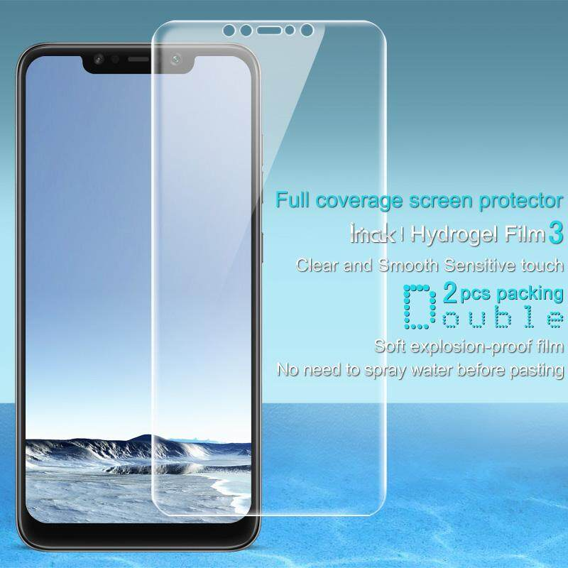 2 Pcs/set Imak Depan Lembut Lebih Jelas Hidrogel Film III Cakupan Penuh Pelindung Layar Film Pandu untuk Xiaomi Pocophone F1/Xiaomi Poco F1 (India)