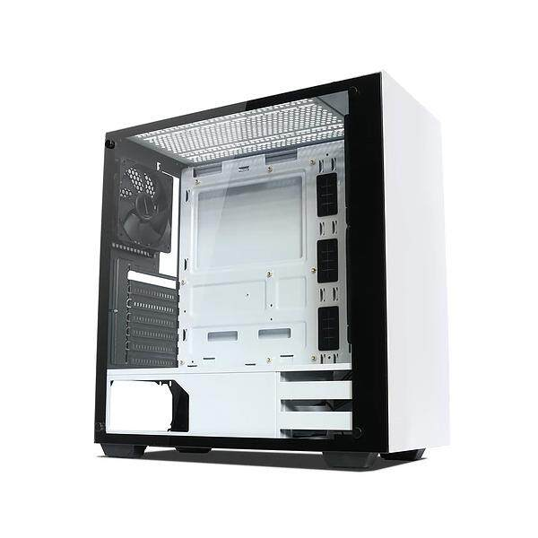 Tecware Nexus Tempered Glass Gaming Casing With 3 Units 12CM Fan (White) Malaysia
