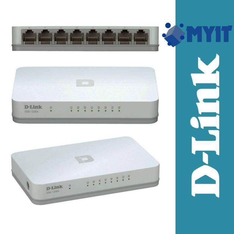 D-Link DES-1008A Compact Ethernet Desktop Switch 8 Port 10/100 Mbps (141.5 x 78.5 x 23.8 mm)