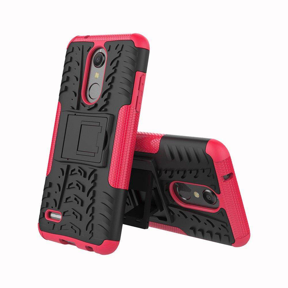 Case For LG K10 2018 TPU and PC 2 in 1 phone Case Cover with Kickstand
