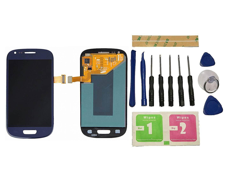 EMK untuk Samsung Galaxy S3 Mini I8190 I8200 LCD Layar Sentuh Layar Digitalisasi Biru Perakitan Perbaikan Bagian Pengganti + Alat + Perekat (Tidak Ada frame)