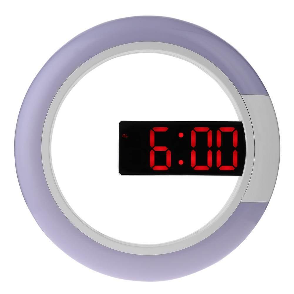 12 Inch Round Digital RGB LED Mirror Hanging Wall Clock w/Temperature Alam