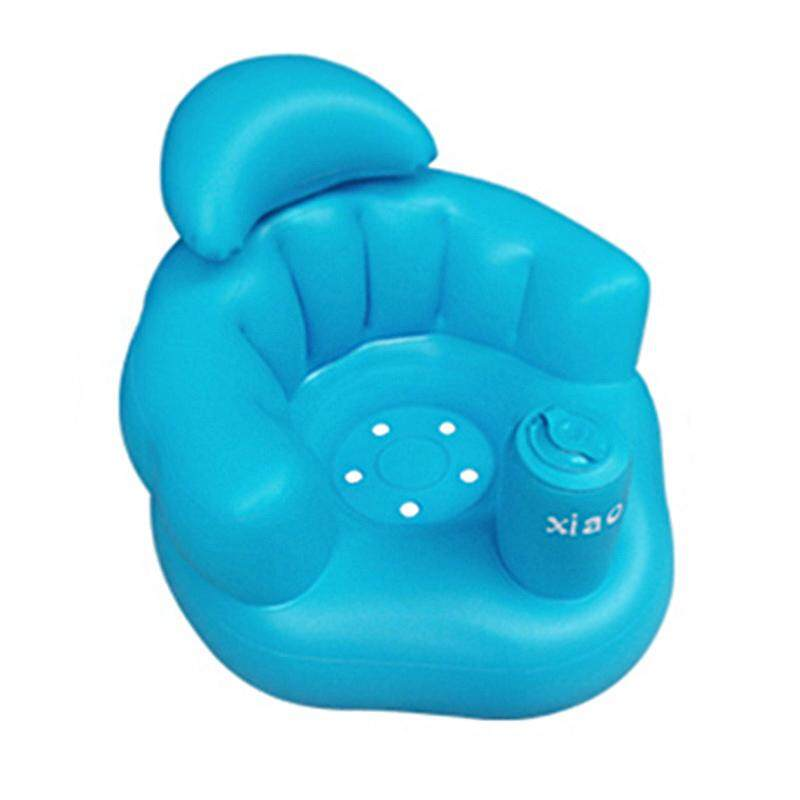 B-F Baby Kid Inflatable Bathroom Sofa Chair Seat Learn Portable Multifunctional - Intl By B-Fashion.