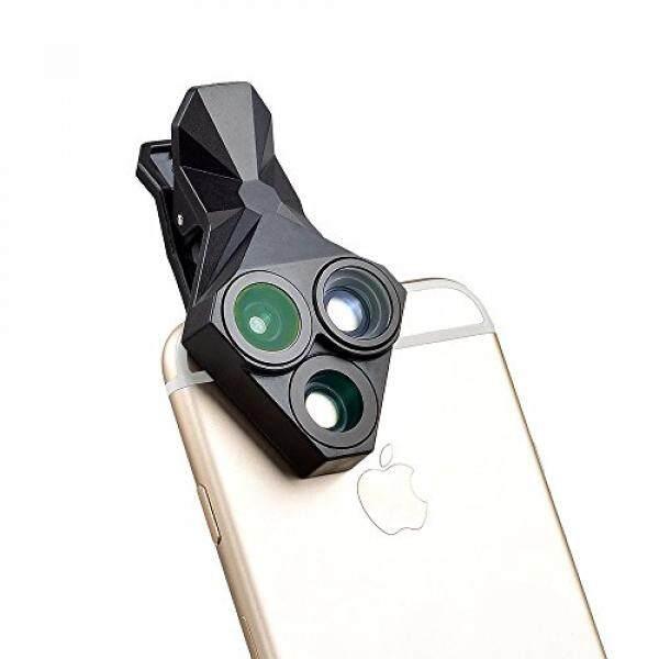 Ponsel Lensa Lampiran Lensa Kamera Kit wmtgubu 3 In 1 Universal Clip-On Ponsel Kamera Lensa Kit 160°fisheye & 20X Mikro & 0.65X Lebar Kemarahan Lensa untuk IPhone7/6/6 S Plus/5 S/4/4 S, samsung Huawei Sony HTC iPad (Hitam)-Intl