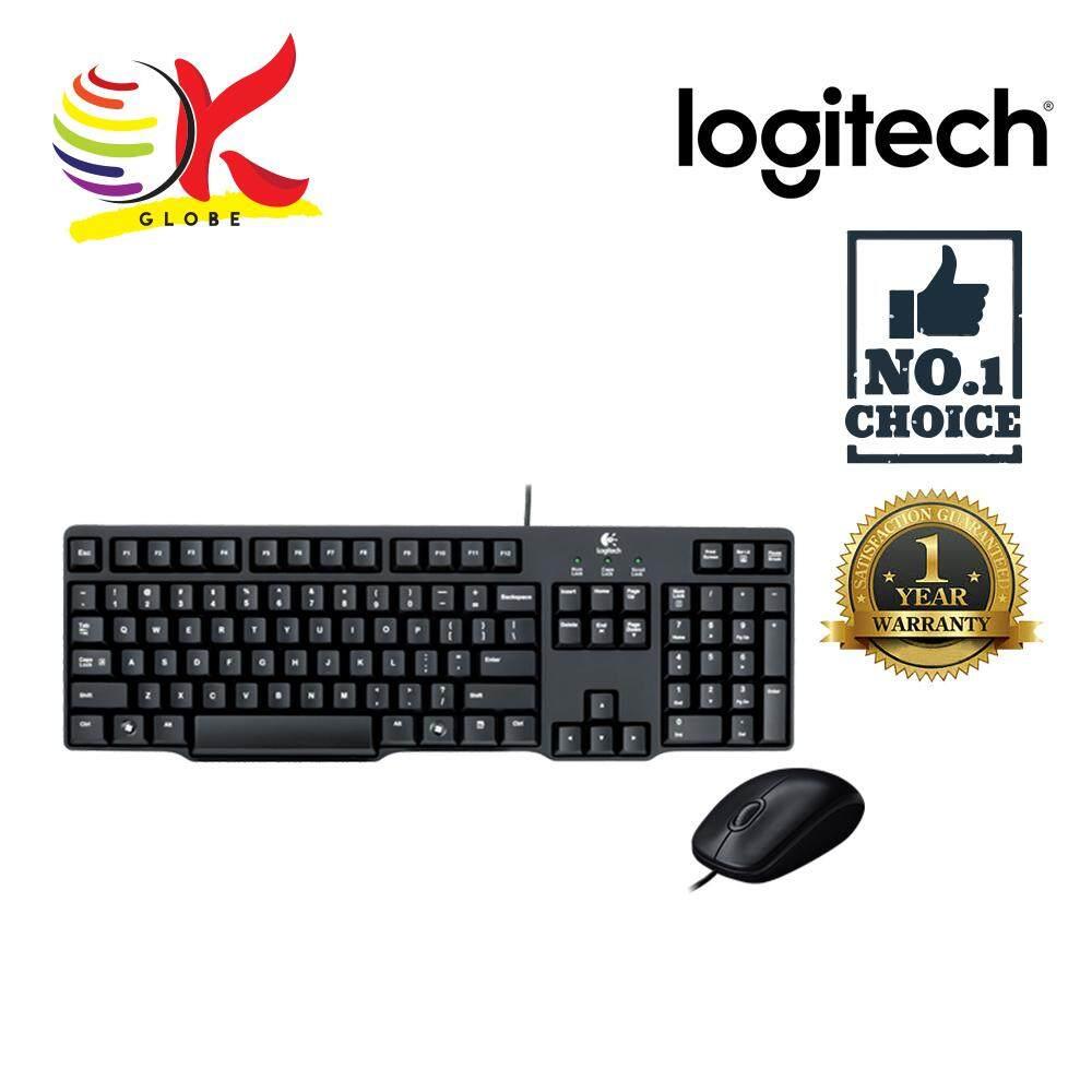Features New Logitech Ps2 Track Ball Wheel Scroll Mouse White Dan Usb B100 Original Combo Desktop Wired Kb Mk100 920 003649
