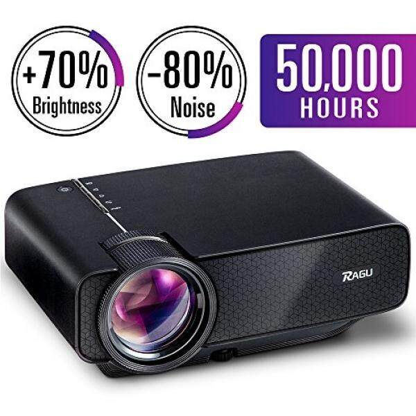 RAGU Z400 Mini Projector, Multimedia Home Theater Video Projector with +21% Lumens 50,000Hours Support HDMI VGA USB AV SD Connected with Laptop/iPad Smartphone Xbox for Movie Game Party(2018 Upgraded) - intl
