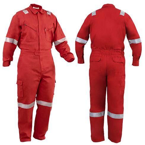 c25e3a4ff1ee shamarr fire retardant coverall (dark green red orange - size s)