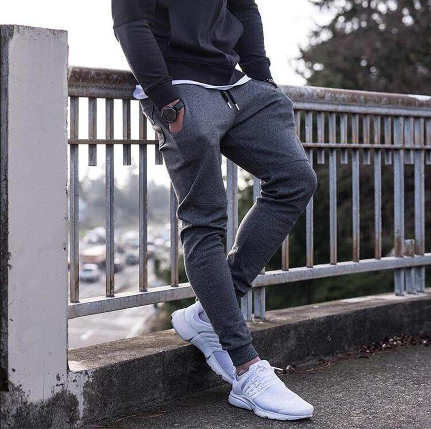 2ca140d57bb1f Newest Mens Sweatpants Autumn Winter Man Gyms Fitness Bodybuilding Joggers  workout trousers Male Casual cotton Pencil