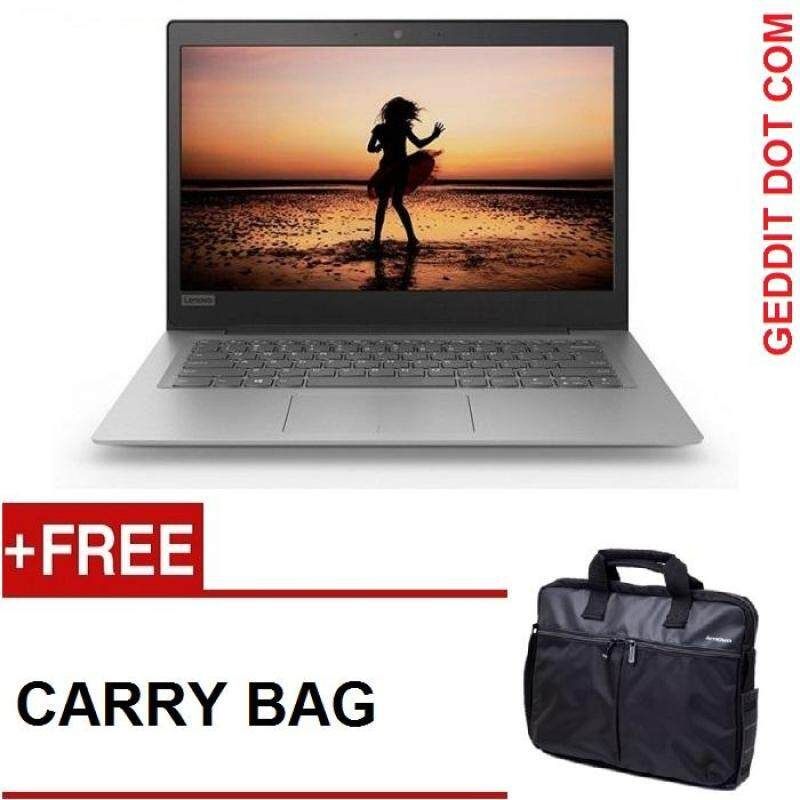 LENOVO IDEAPAD NOTEBOOK 120S-14IAP 81A500GRMJ (N3450,4GB,128GB M.2,WIN 10,NO ODD,14 , MINERAL GREY) FREE  LENOVO CARRY BAG Malaysia