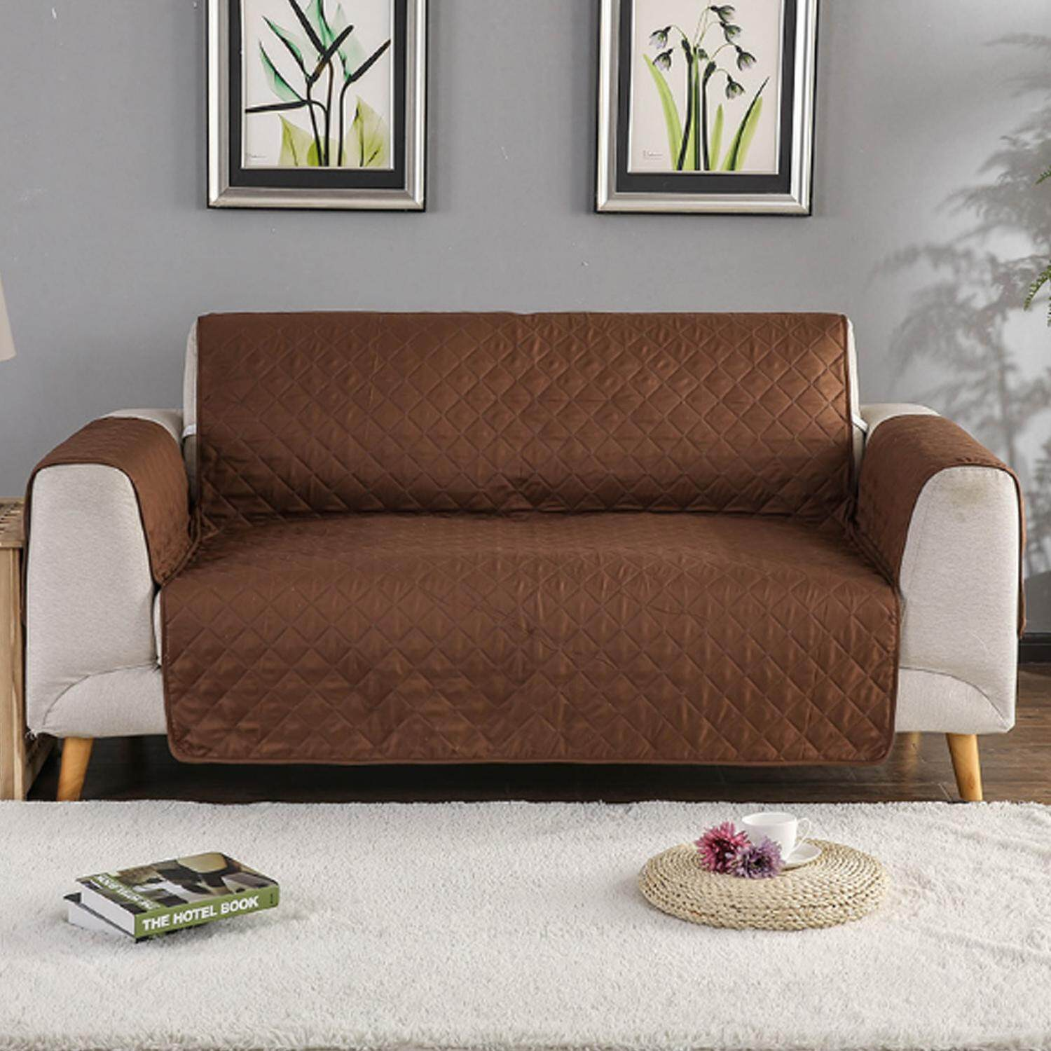 Reversible Wear Resistant Sofa Loveseat Furniture Protector Cover Mat Pet Couch Coat Slipcovers 70 87 X