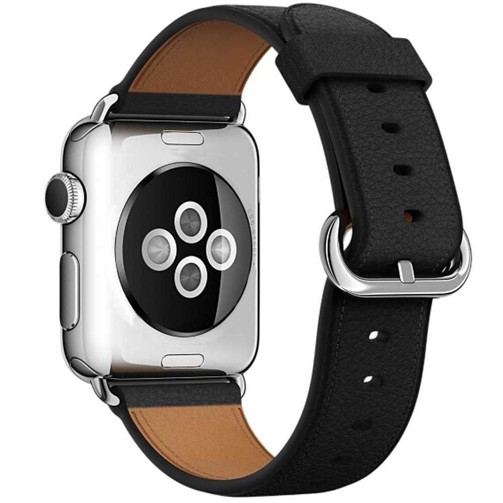 DOXIY Retro Classic Genuine Leather Buckle Wrist Band For Apple Watch Series 3/2/1