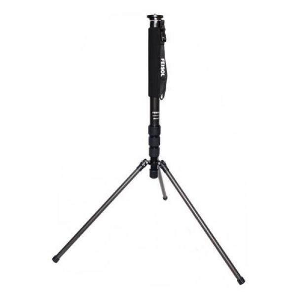 Feisol CM-1473 Rapid Four-Section Carbon Fiber Monopod with 3 Support Legs, 80