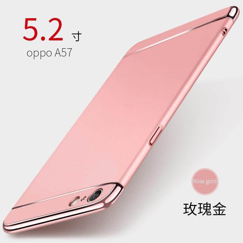 For OPPO A57/OPPO A39 Removable 3 in 1 Hard PC Plating Matte Case