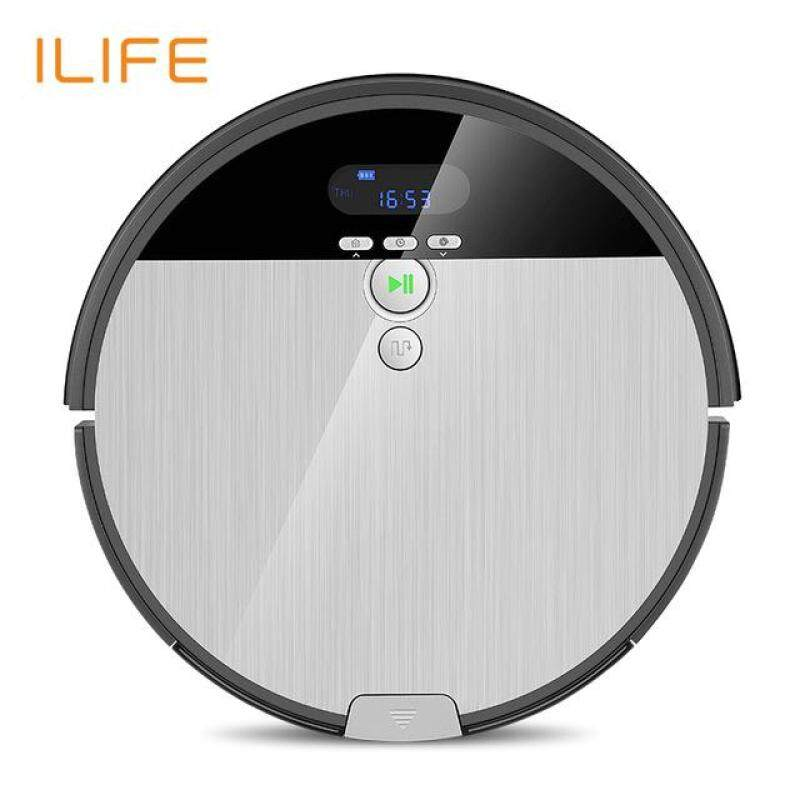 ILIFE V8S Vacuuming Mopping Robotic Cleaner with LCD Display with free UK PLUG adapter Wet and Dry mode,Smarter technical cleaning Singapore