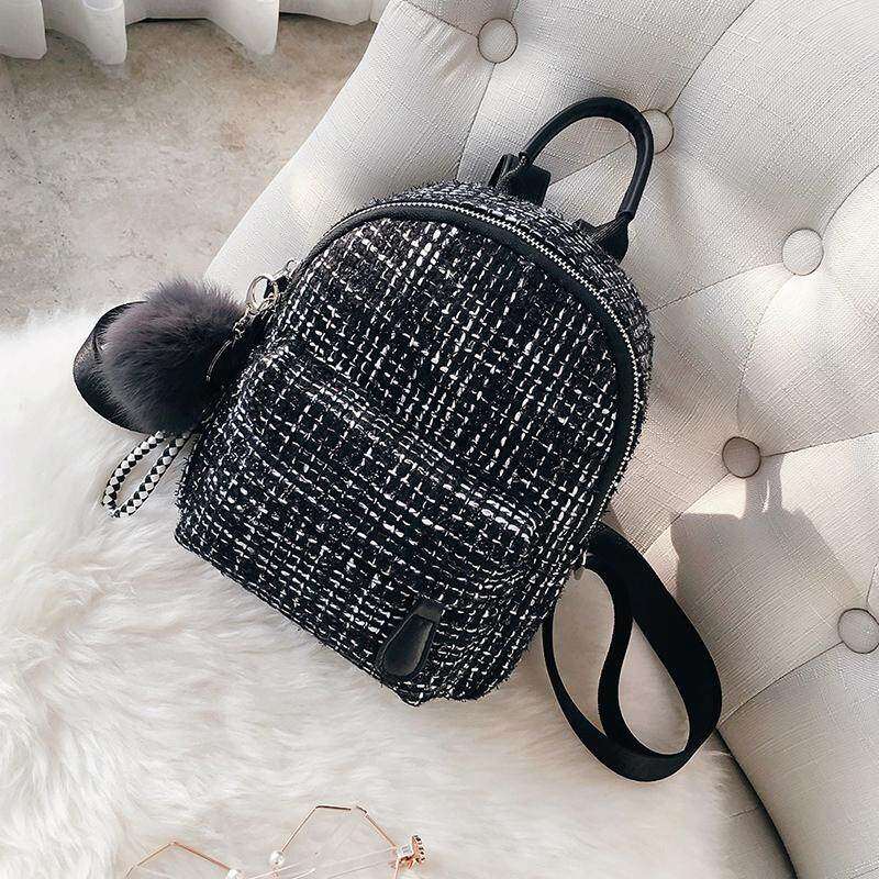 Detail Gambar Mini Shoulder Bag Female Korean Version of The 2018 Spring  and Summer New Fashion Casual Woolen Small Backpack Street Wild Bag Tide  Terbaru 5c79ed4e5d
