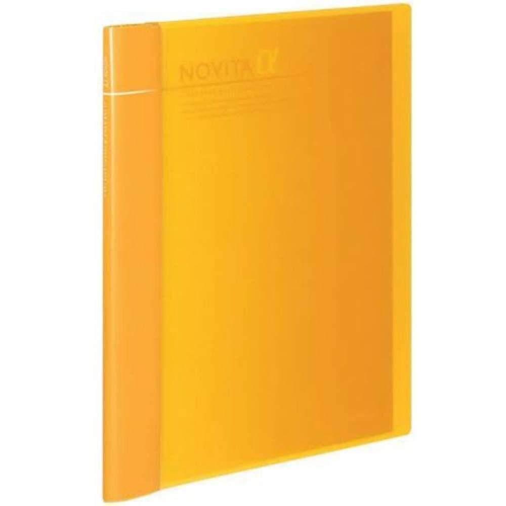 Kokuyo Novita Alpha Expandable Clear Book - Yellow