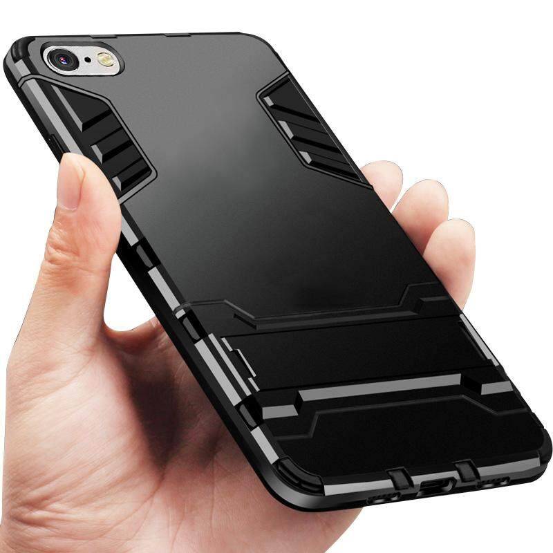 ... For VIVO Y71 Case Rugged Amor Shockproof Silicone Bumper + Hard Plastic Back Casing Cover ...
