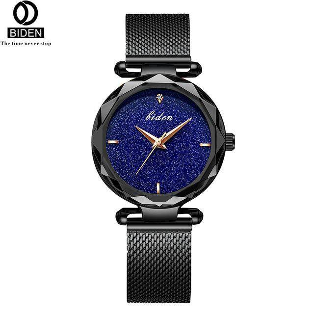 2018 BIDEN 0127 Women's Fashion Quartz Watches Full Steel 30m Waterproof Ladies  Watches