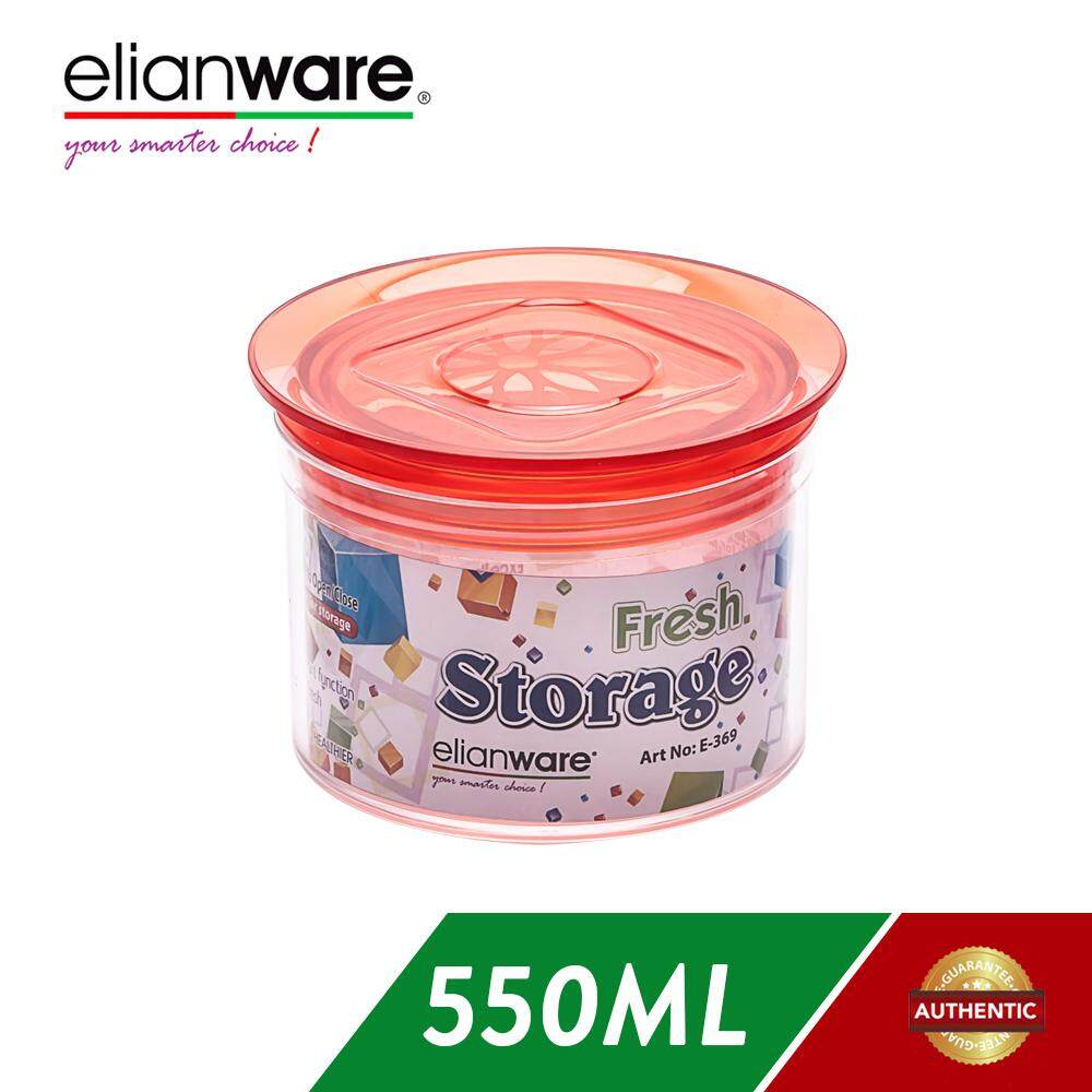 Elianware 550ML Airtight Glass Like Fresh Storage Round Container
