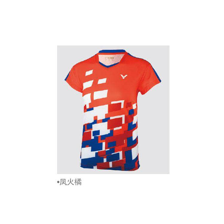 2018 New Victor Malaysia contest badminton wear men and women competition men male T-shirt T80003