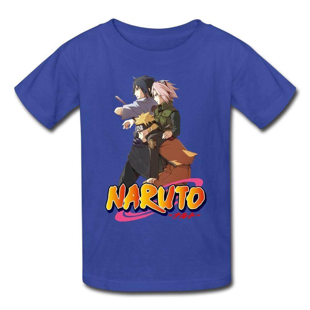 Mode Terkini Pemuda Anak-anak Anime Naruto Shippuden Lengan Pendek T-shirt Keren Lucu Olahraga Remaja Top-Intl