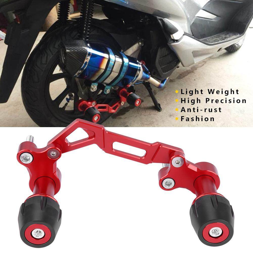 Motorcycle Adjustable Exhaust Pipe Sliders Falling Protector for Yamaha NVX Nmax Xmax (Red)