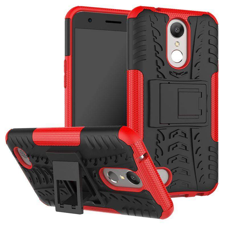 Case for LG K10 2017 / LG V5 / LG K20V / LG K20 plus Hyun Pattern Dual Layer Shockproof Kickstand Hybrid Armor 2 In 1 Cover - intl