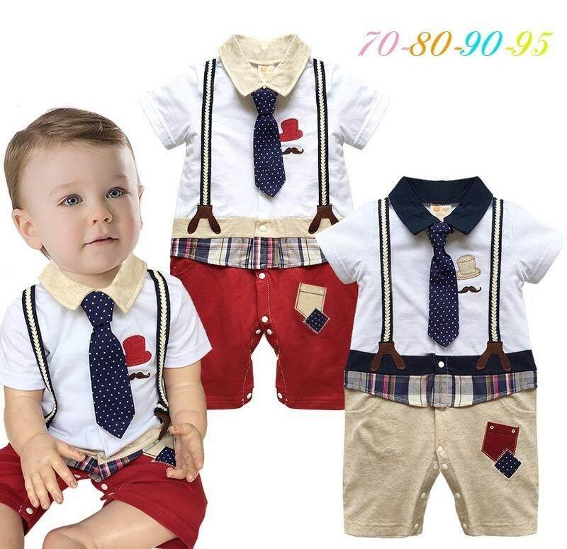 Musim Panas Pakaian Bayi Set Pria Setelan Anak Laki-laki Baju Bayi Baru Lahir Romper