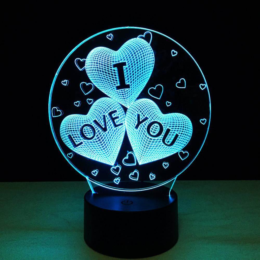 Good 3D Illusion Visual Night Light 7 Colors Change LED Desk Lamp Bedroom Home  Decor