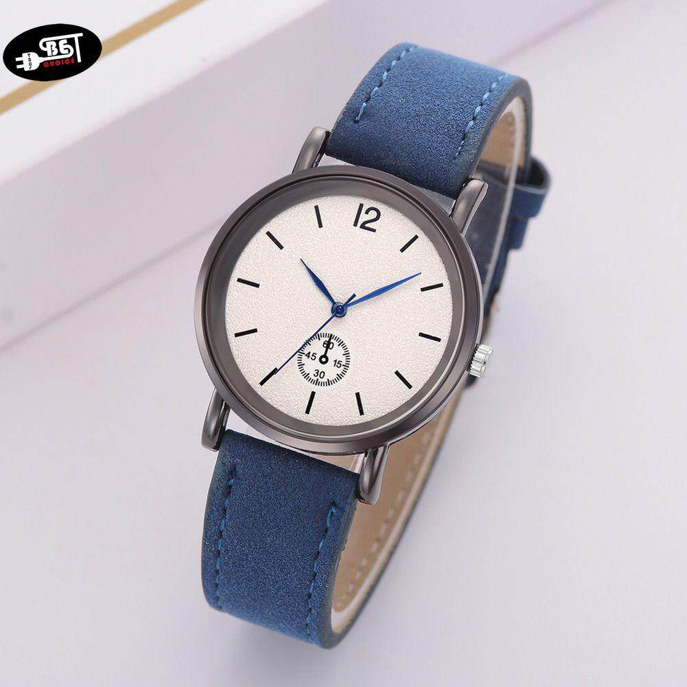 YBC Quartz Wrist Watch with Durable PU Leather Strap Simple Style Casual Watch Malaysia