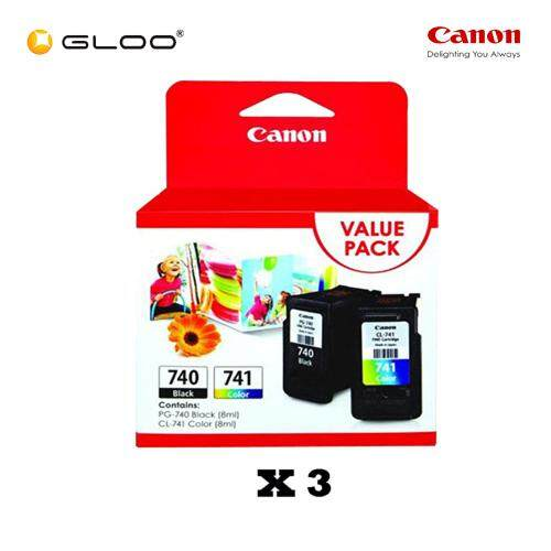 [Set of 3] Canon Fine Value Pack 11 PG-740+CL-741 Ink Cartridges