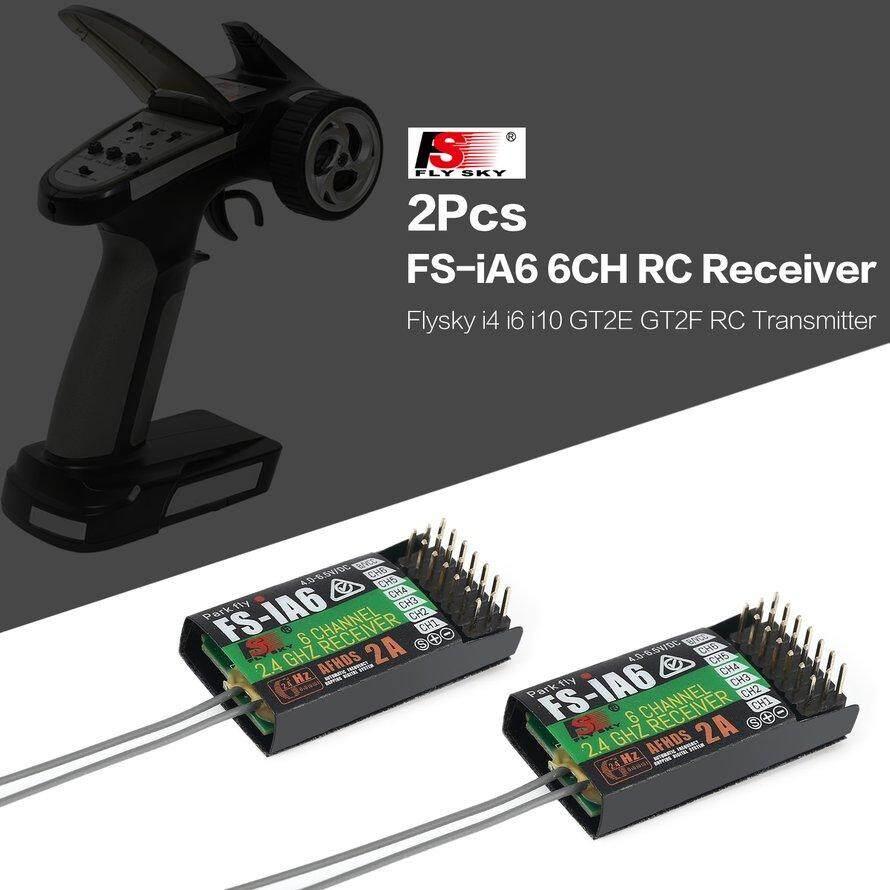 OSMAN 2Pcs Flysky FS-iA6 6CH Receiver for Flysky i4 i6 i10 GT2E GT2F RC Transmitter - intl