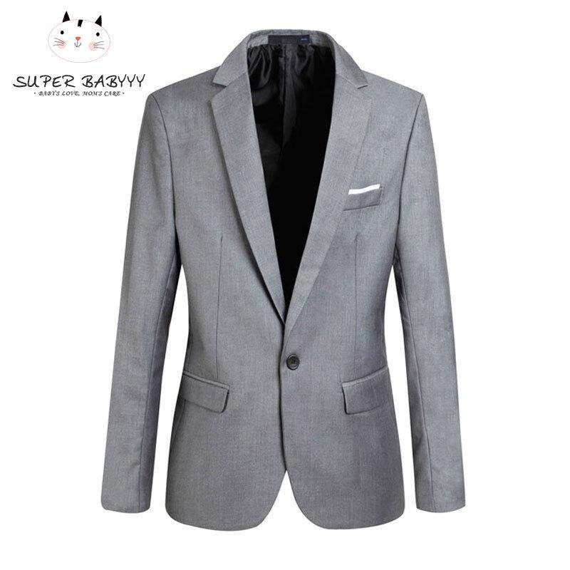 88660f8827 SBY Fashion Spring Autumn Men Blazer Long Sleeve Solid Color Slim Man Casual  Thin Suit Jacket