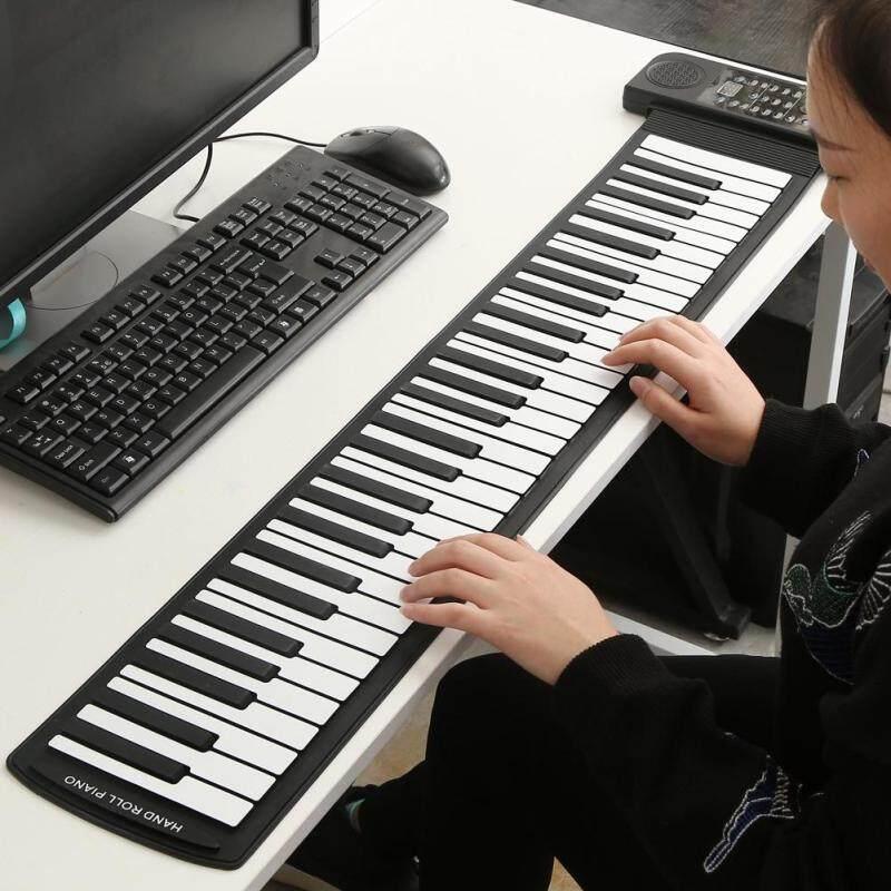 Di động 61 Phím Cuộn lên bằng silicon mềm dẻo Điện Tử Kỹ Thuật Số Bàn Phím Đàn Piano Mới