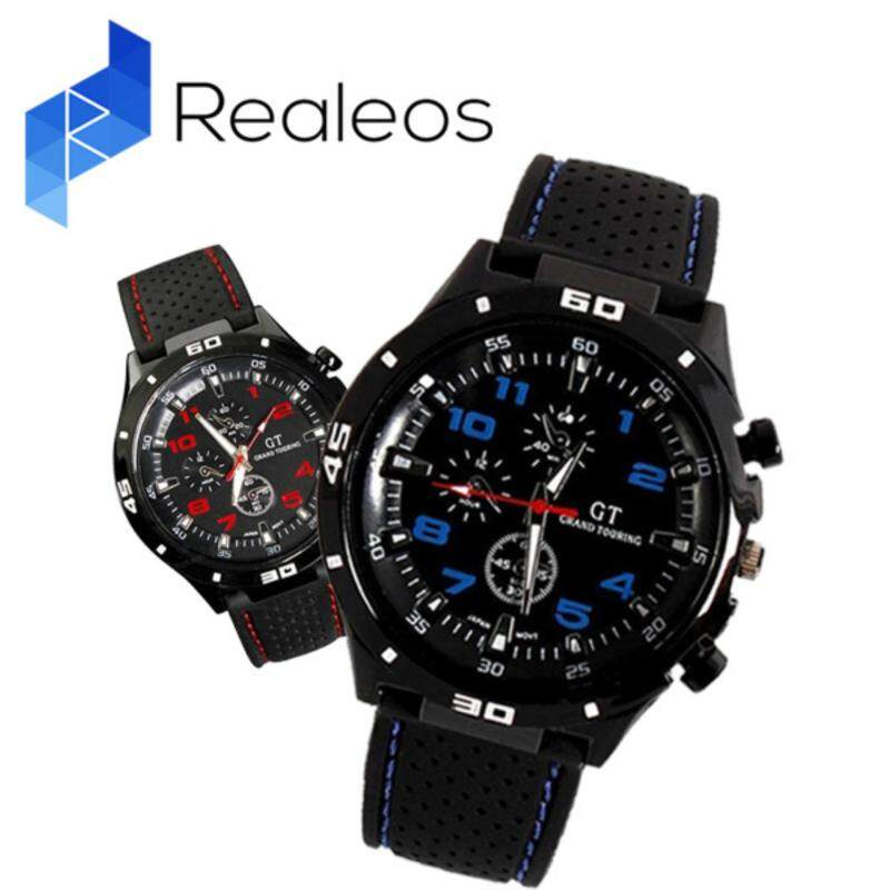 Realeos Military Pilot Silicone Sport Wrist Men Boy Business Casual Watch - R383 Malaysia