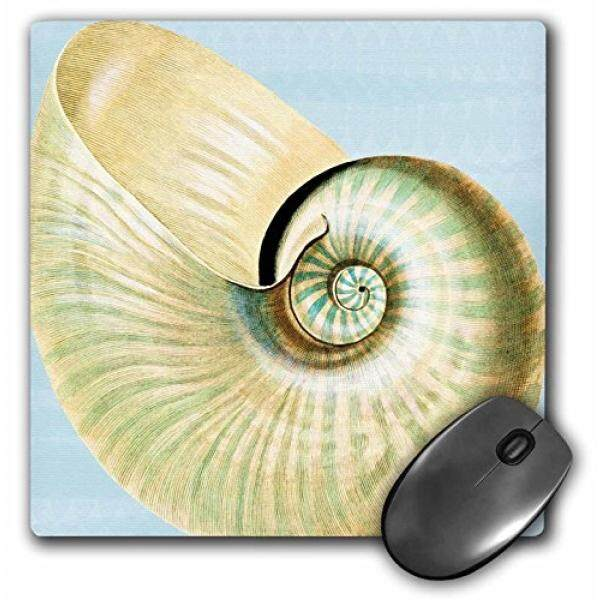 Alas Mouse Putih Yang Indah Kerang-Bertema Pantai ART-Alas Mouse, 8 dengan 8 Inches (Mp_63637_1)-Intl