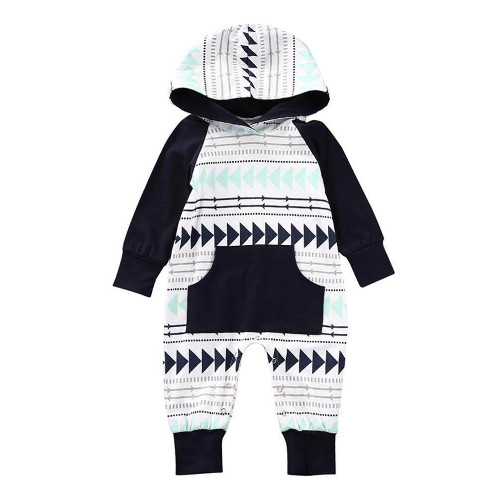 fe9c67f817e Baby Boys Girls Infant Hooded Gift Romper Arrows Joint Jumpsuit Bodysuit  Clothes Outfits( 100cm)