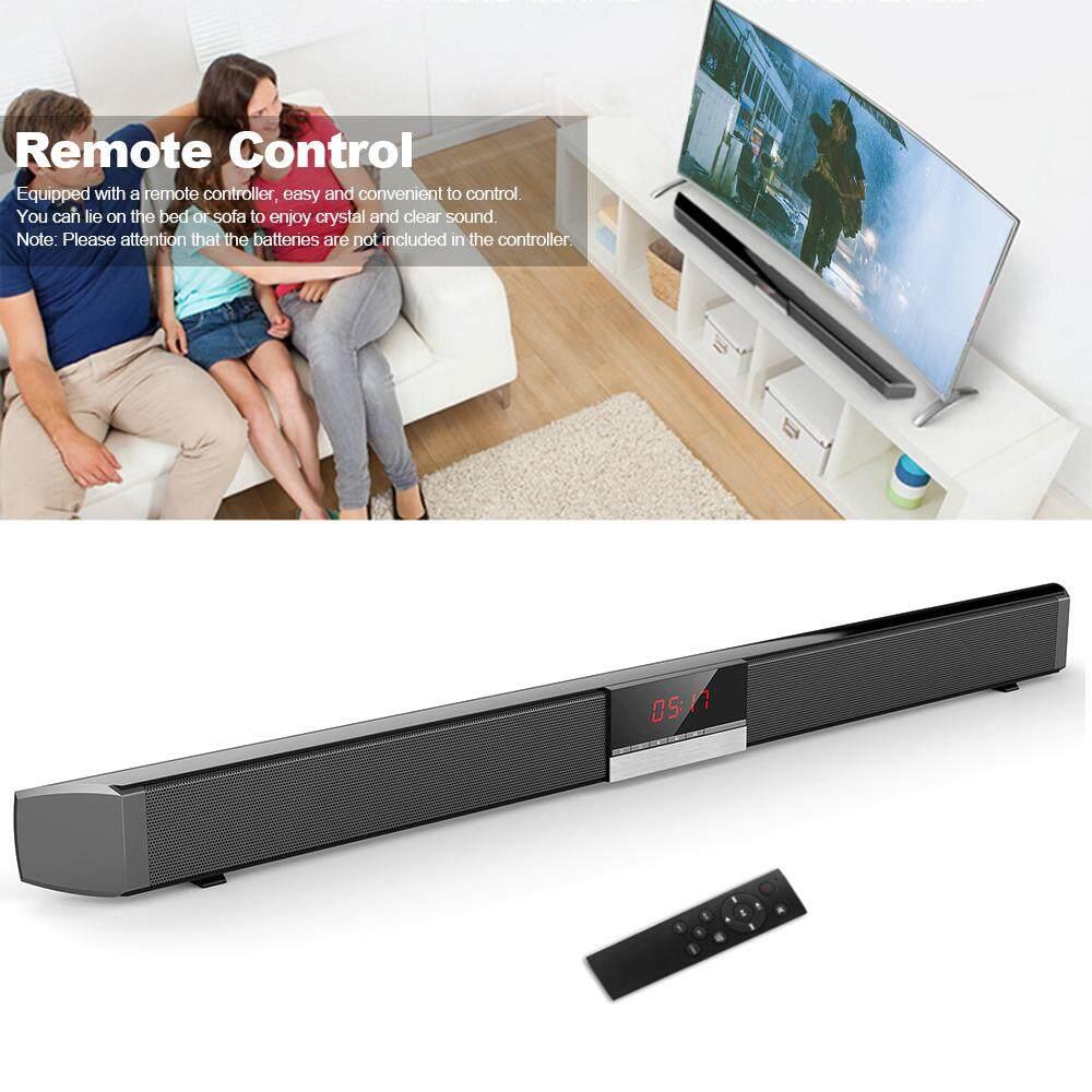 SR100 Plus Soundbar Bluetooth TV Rumah Speaker Wireles-S Subwoofer Pengendali Jarak Jauh Suara Surround Stereo 4*15 W Speaker untuk Home Theater AUX di Optik Koaksial Speaker Inggris - 2