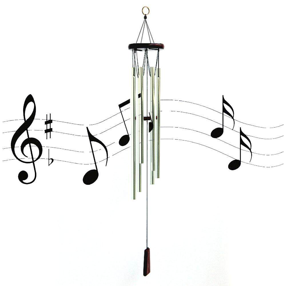 OrzBuy Wind Chimes, Musical Windchime Sweet Sound Mother Dad Outdoor Indoor Relax Meditation Garden, Percussion Instrument Aluminum Tubes Metal Wood Medium Large Wind Chime, Copper