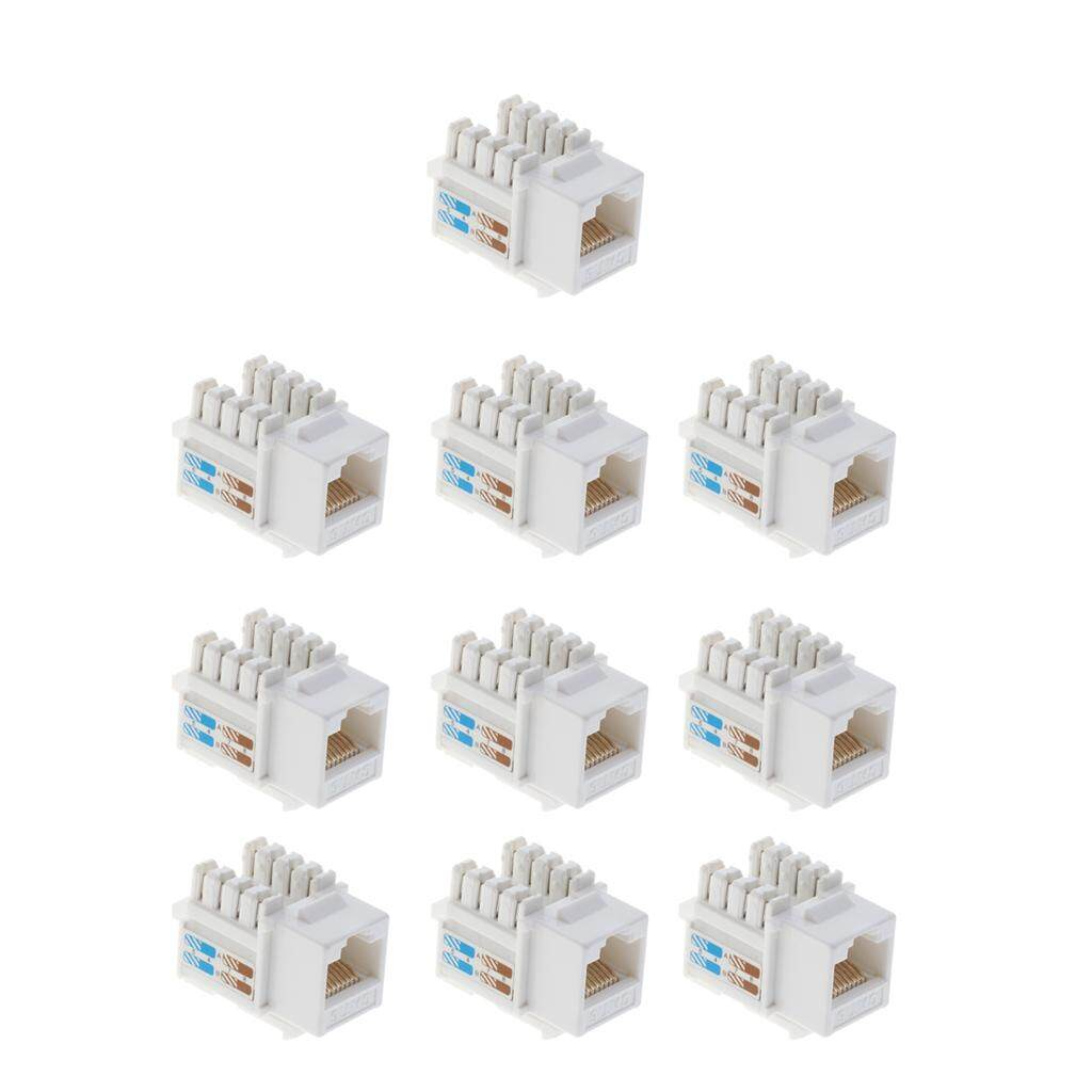 Buy Sell Cheapest Magideal 100pieces Rj45 Best Quality Product Wiring Cat6 Keystone Jack 10pcs Module Network Connector Enternet White
